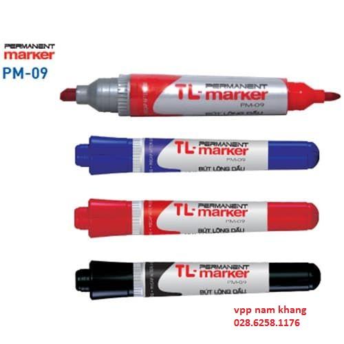 bút lông dầu pm09 màu xanh ,đen,đỏ